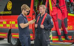 Demonstration of emergency service (frankmh) Tags: skne sweden scania helsingborg emergencyservice