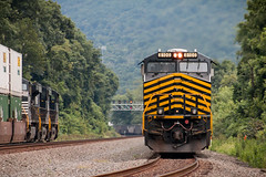 Coming Back Around Again (marko138) Tags: railroad train pennsylvania cove trains locomotive coal railfan pitl norfolksouthern nickelplateroad nkp pennsylvaniarailroad coaltrain railroadphotography pittsburghline coaldrag heritageunit emptycoaltrain ns8100 pt116