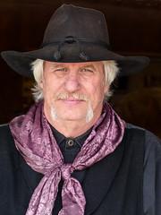 Cowboy (J Wells S) Tags: ohio cowboy moustache williamsburg cowboyhat candidportrait oldwestfestival 2014steampunkday