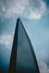 Shanghai World Financial Center_ (hans-johnson) Tags: world china blue building century skyscraper asia shanghai centre center ave fox   moribuilding pudong avenue financial mori  pedersen lujiazui swfc kpf kohn kohnpedersenfox        supertall shanghaiworldfinancialcenter        492m   kpf