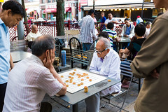 Boston Chinatown (Huy Le StreetLife) Tags: life street old playing man boston canon relax happy photography nice chinatown natural bokeh wide chess happiness streetlife oldman 6d 1635ii