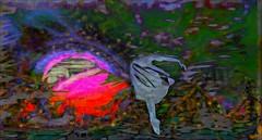 Trance / Artsit : Bryn Oh (Bamboo Barnes - Artist.Com) Tags: secondlife art exhibition winter 2016wintershowcaseartshow teamdiabetesofsecondlife surreal vivid light shadow photo painting green blue red bamboobarnes virtualart digitalart brynoh