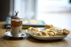Last morning in 2016 [explored] (Oras Al-Kubaisi) Tags: happy new year london iraq turkish glasses tea book pastry 2016 natural light nikon
