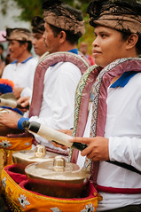 playing the drums (Sam Scholes) Tags: watertemple lakeofholymountain bedugul puraulundanubratan travel lakebratan purabratan shivaite bali hinduism vacation indonesia temple hindu baturiti id