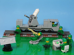 Rail C-RAM Hemtt (dr_spock_888) Tags: lego moc trains hemtt truck cram army men brickarms radar console phalanx 20mm green