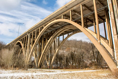 Commercial Street Bridge (dxd379) Tags: bridge ninemilerun pittsburgh alleghenycounty commercialstreetbridge nikon d7100 frickpark archbridge