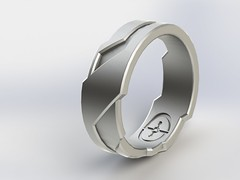 GD Ring - Edge 3d printed wedding ring (daniel_rlz_all) Tags: 3dprinted weddingband weddingring cool clever christmas gift present gold 360 alien bb8 starwars design designs designer edge future girgis halo halo5 industrial ironman jewellery jewelry jewelery marvel masterchief modern necklace one ring space tronxboxassassinscreed shapeways cheap 18kgold metal tungsten futuristic scifi rings bands gd engagement