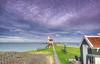 """The """"Paard van Marken"""" lighthouse. (Alex-de-Haas) Tags: dutch dutcharchitecture dutchskies hdr holland hollandseluchten ijsselmeer marken nederland nederlands nederlandsearchitectuur netherlands noordholland paardvanmarken architecture architectuur beautiful daglicht daylight highdynamicrange lake landscape landschap lighthouse lucht meer mooi schiereiland sky summer vuurtoren water zomer"""