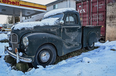 Austin A40 10 CWT Pick-Up (1947-1953) (spetersonphotography ★★Happy New Year!★★) Tags: austina4010cwtpickup austina40pickup austinofengland pickuptruck truck vintagetruck vehicle deroche britishcolumbia canada nikond5200 nikon fraservalley oldtruck vintage antique antiquetruck rust austin photopainting digitalart