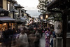 Stand Still (dtra) Tags: autumn ghost japan kimono kiyomizudera kyoto lantern longexposure motion motionblur people purple temple