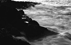 Battlefield (a war between water and stone) (GianlucaChincoli) Tags: sea waves movment perspective rocks battle contrast white exposure