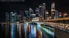 Jubilee Bridge and CBD (20161230-DSC00395) (Michael.Lee.Pics.NYC) Tags: singapore jubileebridge marinabay singaporeriver cbd centralbusinessdistrict night longexposure reflection architecture cityscape sony a7rm2 zeissloxia21mmf28