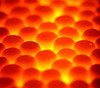 Polystyrene (Loosley Bound Together) (1selecta) Tags: polystyrene orange red yellow round circle roundish circular soft gap crevis undulate warm hot fiery gel uneven bump bumps bumpy