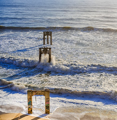 Old Davenport Pier (Justin Garofano) Tags: ocean pier sunset california santacruz highway1 nikon
