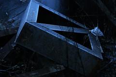 Merzkunst (gripspix (OFF)) Tags: 20161208 schrottplatz scrapheap metal metall iron eisen rahmen frame