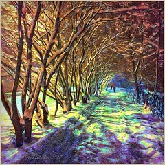 Evening in Obninsk before Christmas. (odinvadim) Tags: mytravelgram paintfx textured textures iphone editmaster travel iphoneography sunset evening iphoneonly painterly artist snapseed landscape photofx specialist iphoneart graphic painterlymobileart