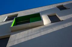 Light banners II (jefvandenhoute) Tags: belgium belgië belgique brussels brussel bruxelles light lines shapes sony rx10 photoshopcs6 green window