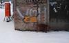 dogs corner (zoomazoomarum) Tags: hund mauer winter schnee graffiti