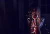 christmas kitsch: 101 (Linda Wojnar) Tags: girl female woman blondhair septumpiercing piercing czech czechrepublic lights christmaslight selfportrait myself holographic