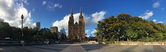 Sunny Day... (Jadeed Khan (Been far away for far too long...)) Tags: sydney st marys cathedral sunny panaroma city architecture jadeedkhanphotography shotoniphone iphonephotography mobilephotography