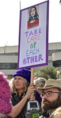 "Oakland, Women's March, couple, sign, ""Take Care of Each Other"", (David McSpadden) Tags: take care each other couple oakland sign womensmarch"
