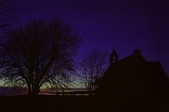 Moonless Night With Tree And Church (Doha Sam) Tags: 160 35mm analogue c41 colorneg colorperfect coolscan coolscan9000ed fe film fuji holiday isleofarran linearscan negative nikon nikonscan pro160s samagnew scan scotland trip uk winter iso100 smashandgrabphotocom wwwsamagnewcom