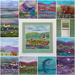2016 Wall Calendar Printed Felt art (*Aileen Clarke Crafts*) Tags: etsy folksy feltart 2016wallcalendar