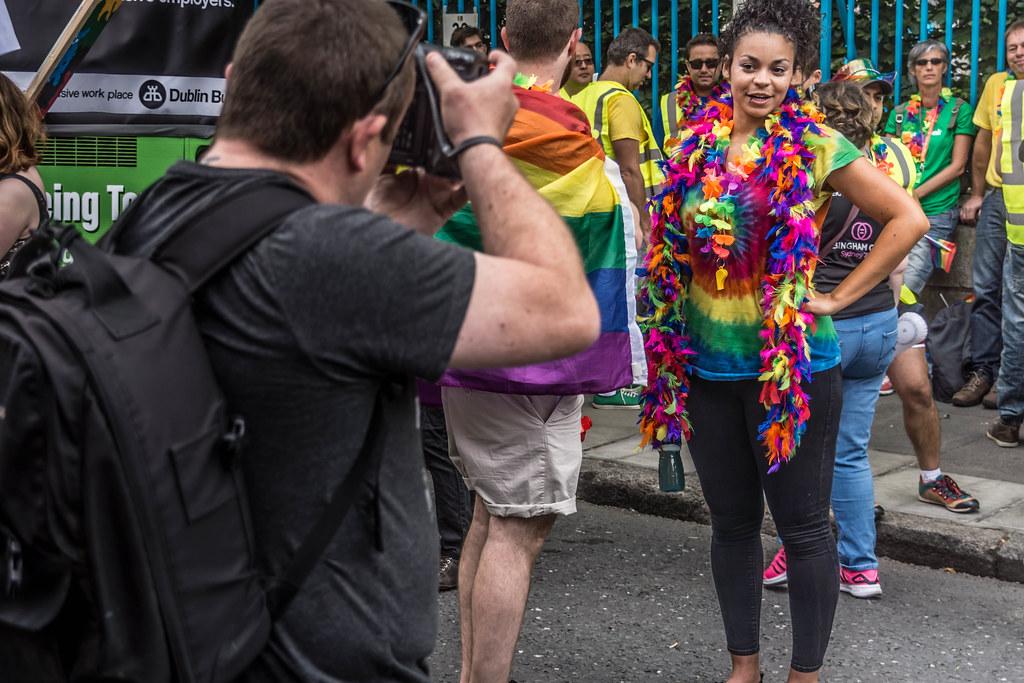 DUBLIN 2015 LGBTQ PRIDE FESTIVAL [PREPARING FOR THE PARADE] REF-106225