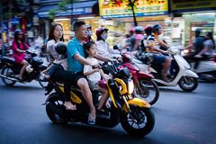 Family on a motorbike (Joni Kantonen) Tags: life street people streets bike traffic centre citylife streetphotography center vietnam motorbike transportation streetphoto marketplace local hanoi citycenter northvietnam