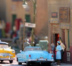 Cora's Blue Caddy (eks4003) Tags: toys dock trains cadillac 1957 ho 187 powderblue caddy cora forklift scalemodel bostonandmaine