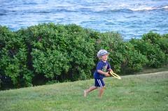 Everett Playing With The Ring (Joe Shlabotnik) Tags: blurry maine everett faved 2015 higginsbeach justeverett afsdxvrnikkor55300mm4556ged july2015