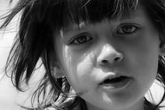 portrait (krøllx) Tags: portrait people bw white black monochrome face child expression simple 1505231006edit201505231