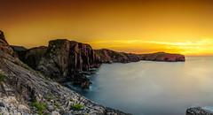 Colores. (Oscar de Tuon) Tags: sunset espaa canon landscape asturias paisaje cliffs llanes acantilado haida scar nodalninja3 leefilters tun lahuelga 5dmarkiii tobacco2 sigma35mmart