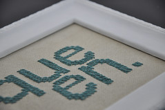 queen. (helenetraxler) Tags: typography crossstitch stitch embroidery crafts embroider