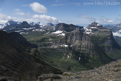 "Logan Pass from Bishops Cap • <a style=""font-size:0.8em;"" href=""http://www.flickr.com/photos/63501323@N07/19787035940/"" target=""_blank"">View on Flickr</a>"