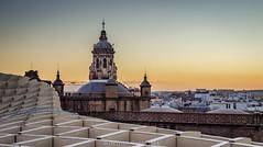 Sevilla, ES (Capistou) Tags: sunset architecture sevilla nikon parasol sville ville mirador coucherdesoleil iglesiadelaanunciacin oliviercappeliez
