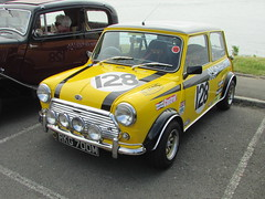 Austin Mini 1300 MKII RKG700M (Andrew 2.8i) Tags: coracle run swansea bracelet bay carmarthen austin mini bmc downton engineering race racing replica classic car 1275 britax all types transport
