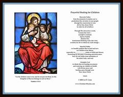 Prayerful Healing for Children (Loci Lenar) Tags: usa catholic rss prayer jesus nj blogs christian bloglines feed christianity miracles feeds artprint morriscounty denville prayercard saintmaryschurch prayerfulhealing healingprayer
