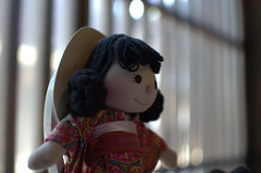 Doll in cafe shop Tsumago