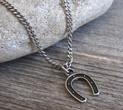 Men's Necklace - Men's Horseshoe Necklace - Men's Silver Necklace - Mens Jewelry - Necklaces For Men - Jewelry For Men - Gift for Him (galcohen2014) Tags: men boyfriend silver for necklace husband jewelry gift mens accessories horseshoe pendant necklaces horsehoe