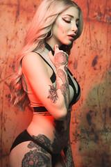 DSC_2990 (Lopshire Photography) Tags: savageuniversalcorporation sponsor photostudio sigmaphoto bowens pocketwizards model altmodel tattoos ink lingerie girl ladiesofmetal eastcoast studio sponsoredphotographer
