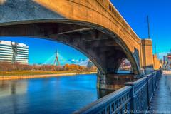 Craigie Bridge (Vintus Okonkwo fotografi) Tags: craigie boston charles river cambridge zakim canal overpass reflections water bridge sky clouds canon eos 70d
