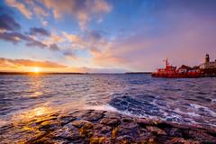 The Pilot (Matt Rimkus) Tags: schleswigholstein ship ostsee kielerförde colourful stormy waves pilot balticsea sunrise fjord kiel sky clouds deutschland de
