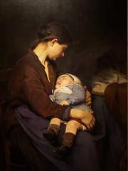 """A Mother"", Elizabeth Nourse, 1888 (Joey Hinton) Tags: olympus omd em1 cincinnati art museum mft m43 microfourthirds 1240mm f28"