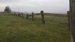_DSC1935 (slackest2) Tags: wood fence wooden sunrise mist fog