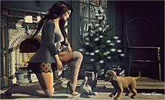 Look # 1000 Thousand (Kamila Stoanes) Tags: event wintertrend dela hair headmesh dress legalisanity noir boots puppys accesories fair
