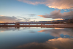 Morning Light (mclcbooks) Tags: morning clouds dawn daybreak lake landscape reflections le loneexposure chatfieldstatepark lakechatfield colorado