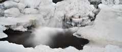 Frozen Waterfall Panorama (Andreas Øverland) Tags: akershus norway no leicasl leica winter frost water frozen ice longexposure combined