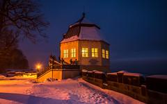 Friedrichsburg zur blauen Stunde (matthias_oberlausitz) Tags: königstein festung friedrichsburg morgen dämmerung blaue stunde früh schnee winter christiansburg elbsandsteingebirge