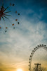 Fun At The London Fair by Simon & His Camera (On Explore 14th Dec 2016) (Simon & His Camera) Tags: london londoneye sunset evening wheel round fair sky cloud colours iconic skyline outdoor blue yellow simonandhiscamera explore